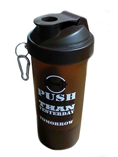 Valentine Besonderes Geschenk für Ihre Liebsten Kunststoff-Fitness-Studio Wasserflasche mit 3-Schicht Twist und Lock-Speicher / Brown Farbe / 600ml, Loop Top Shaker Bottle (Camo Mischung)