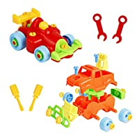 Nuheby Assemble Toy Take Apart Car Disassemble Racing Building Construction DIY Pretend Vehicles SUV with Toy Tool Screwdriver Wrench for Boys Girl Kids Gift Educational 3 4 5 Year Old