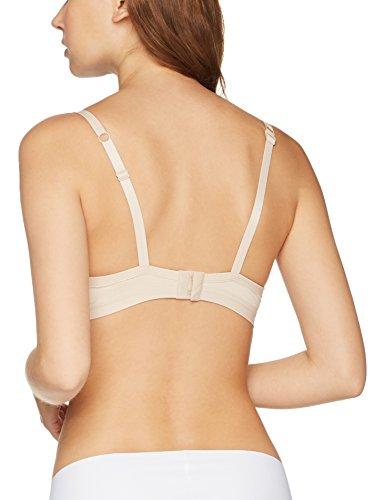 Iris & Lilly Damen Bügelloser Body Smooth BH mit wattierten Körbchen Beige (Nude)