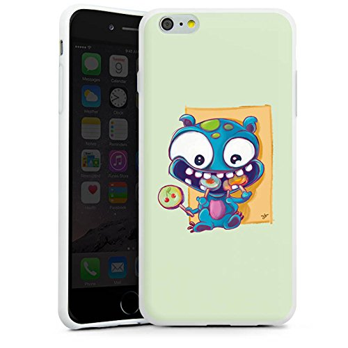 Apple iPhone X Silikon Hülle Case Schutzhülle Monster Bonbons Kinder Silikon Case weiß