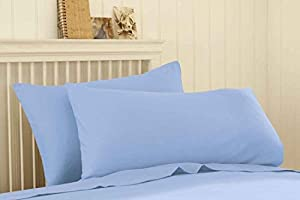 Silentnight Egyptian Cotton Percale Fitted Sheet Set - Powder Blue