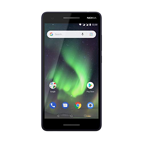 Nokia 2.1 Version 2018 Dual SIM Smartphone (13,97 cm (5,5 Zoll) HD Display, 8GB interner Speicher, 1GB RAM, 8MP Kamera, robustes Gehäuse - deutsche Originalware) blau/ silber
