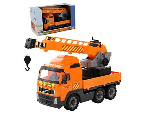 Polesie 58317 Volvo Power Crane - Caja para Camiones de Juguete