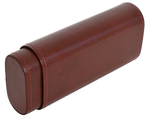 Gusti Leder studio ''Elton'' porta penne occhiali tabacco ufficio vintage vera pelle di bufalo unisex marrone 2S11-22-1