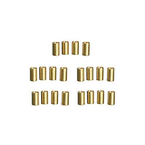 Mètre en cuivre Laiton Perle tube Bague pour DIY macramé Porte Plante Décoration murale à suspendre Craft DIY Kit 20 pièces (20)