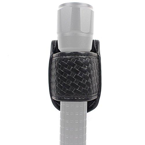 ROCOTACTICAL Basketweave Taschenlampenhalter mit offenem Oberteil für Kompakt-Lichtgürtel, Zubehör für Blitzlichter, passend für Standard-D-Cell Taschenlampen -