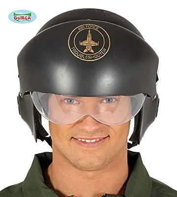 Guirca Pilotenhelm Helm Kampfpilot Air Force Einsatzhelm Helm Schwarz