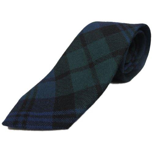 Jungen-Krawatte im Black Watch-Tartanmuster - 100% Wolle - Made in Scotland -