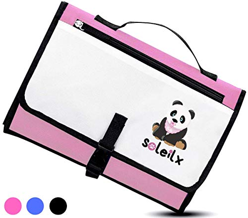Cambiador portátil plegable con diseño de panda Bolso cambiador de viaje colchón cambiador pañal...