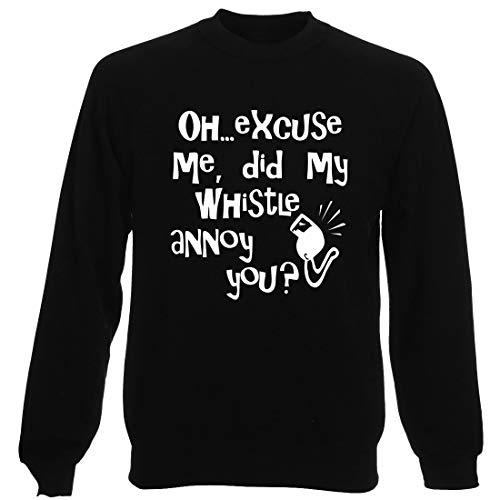 T-Shirtshock Rundhals-Sweatshirt fur Mann Schwarz OLDENG00723 Whistle Annoy Navy