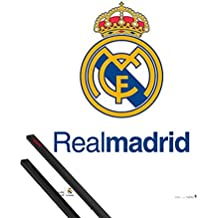 Póster + Soporte: Fútbol Póster (91x61 cm) Real Madrid, Logo Y 1 Lote De 2 Varillas Negras 1art1®