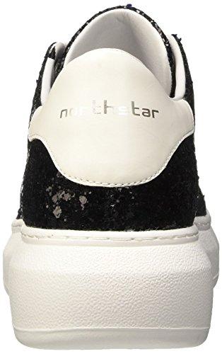 North Star 5416223, Pompes à Plateforme Plate Femme Noir (Nero)