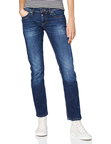 Timezone Damen TahilaTZ Straight Jeans, Blau (Surfer Wash 3385), W31/L30 (Herstellergröße: 31/30)