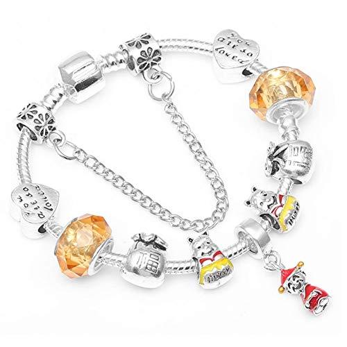 r Farbe Gott des Reichtums Anhänger Charme Armbänder Mit Glückskatze Perlen Marke Armband Für Kinder Frauen Schmuck Geschenk ()