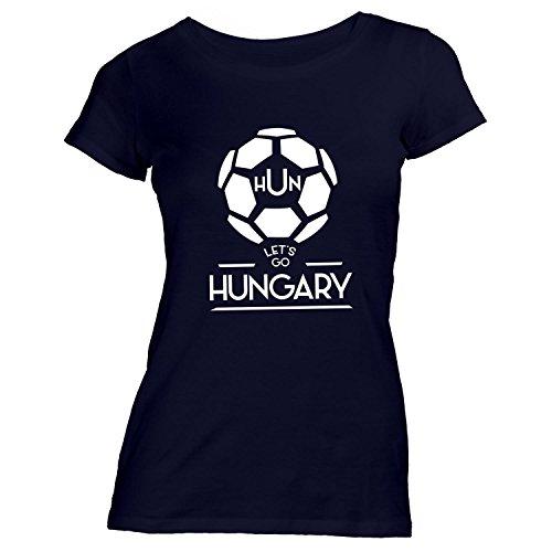 Damen T-Shirt - Fussball Ungarn Let's Go - Hungary Soccer Winner Schwarz