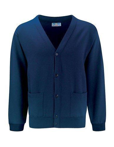 Blau Max Kinder Schuluniform Wintermode Langärmelig Geknöpft Strickjacke Pullover - Marineblau, 122-128 (Burgund Strickjacke)