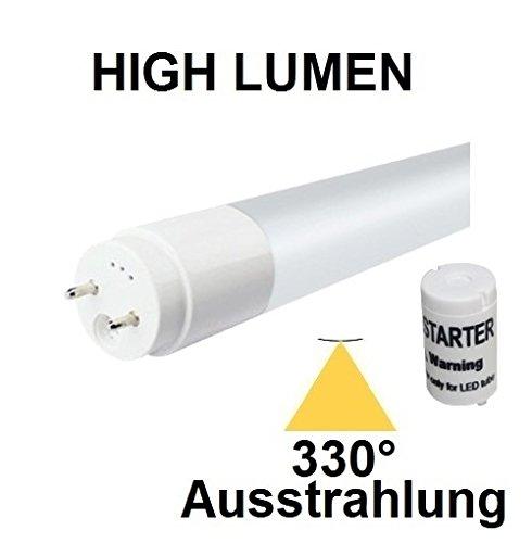 45w Flut (120 cm LED Röhre T8 / G13 - 18 Watt - 330° AUSSTRAHLUNG - HIGH LUMEN (2500 Lm) - Kaltweiß ~ 6000 Kelvin, ersetzt 36 - 45 Watt Leuchtstoffröhre - Ideal für Leuchten mit Reflektor)