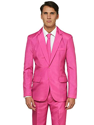 Offstream Plain Colored Suits for Men – Costumes Include Jacket Pants and Tie