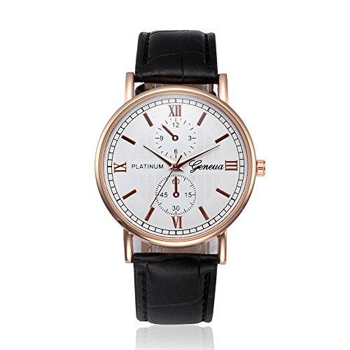 Yivise Unisex Relojes Clásico Diseño Retro Banda de Cuero Aleación  Analógica Cuarzo Redondo Dial Casual de Negocios Mujeres Hombres Reloj 16fa4def5ee1