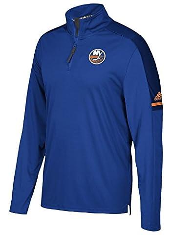 New York Islanders Adidas NHL Men's 2017 Authentic Pro 1/4 Zip Wind Shirt Chemise