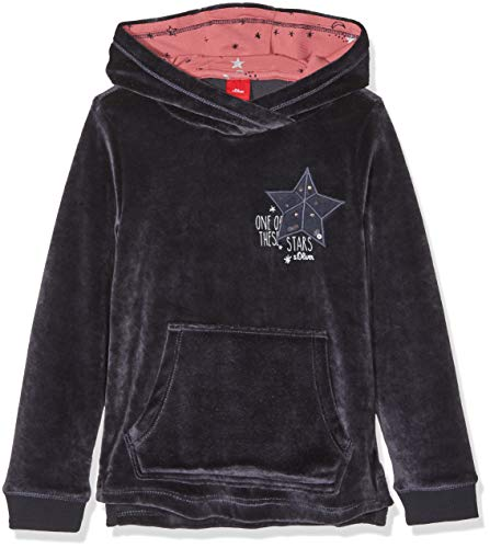 s.Oliver Junior Mädchen Sweatshirt 53.809.41.7862, Blau (Dark Blue 5834), 128