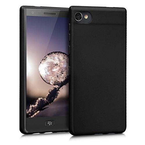 kwmobile Funda para Blackberry Motion - Case para móvil en TPU silicona - Cover trasero en negro metalizado