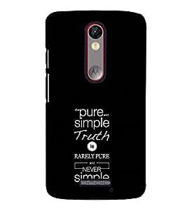 Fuson Designer Back Case Cover for Motorola Moto X Force :: Motorola Moto X Force Dual SIM (Pure And Simple Truth Theme)