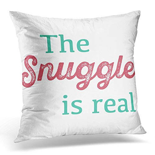 Kissenbezug Throw Pillow Cover White Struggle The Snuggleal Pink and Teal Black Humor Decorative Pillow Case Home Decor Squarees Pillowcase ()