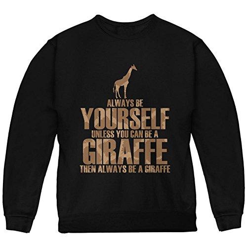 Immer selbst Giraffe Jugend Sweatshirt schwarz YXL (Jugend-giraffe)