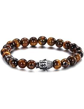 JOCALIO Buddha-Armband Damen Herren Schmuck Tigerauge-Perlen Men-Bracelet Hope Chakra-Perlen
