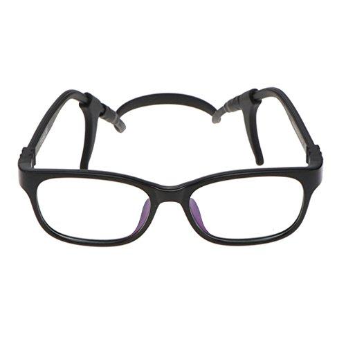 Juleya Kinder Gläser Rahmen - TR90 + Silikon - Kinder Brillen Clear Lens Retro Reading Eyewear für Mädchen Jungen