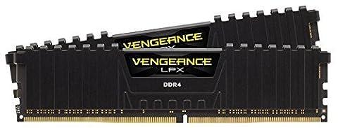 Corsair CMK8GX4M2A2666C16 Vengeance LPX 8GB (2x4GB) DDR4 2666Mhz CL16 XMP 2.0 High Performance Desktop Memory Kit, Black