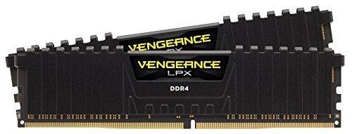 Corsair CMK8GX4M2A2666C16 Vengeance LPX Kit di Memoria per Desktop a Elevate Prestazioni da 8 GB, 2 x 4 GB, DDR4, 2666 MHz, C16, con Supporto XMP 2.0, Nero