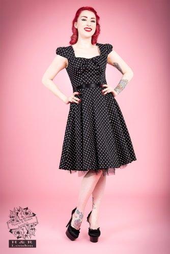 H r & london 6690 dOTS dRESS robe sMALL Noir - Noir
