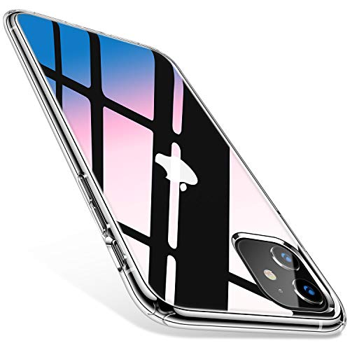 TORRAS HD Hybrid iPhone 11 Hülle [Transparent & Anti Gelb] Stoßfest Klar iPhone 11 Case Hard PC Back & Soft Silikon Bumper Cover Handyhülle für iPhone 11 - Transparent