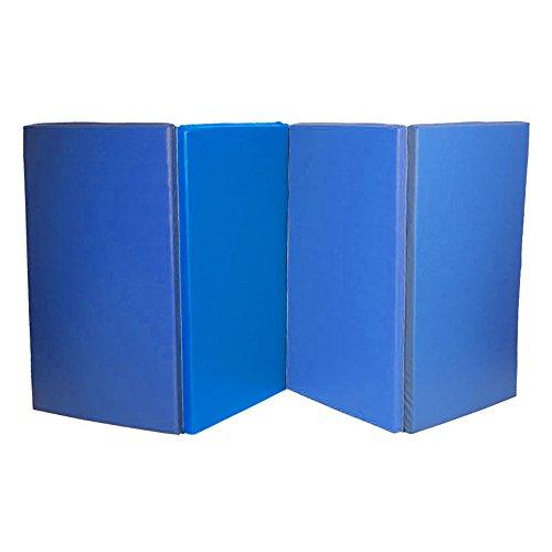 HENGMEI Klappbar Tragbar Weichbodenmatte Gymnastikmatte Yogamatte Rutschfeste Fitnessmatte Sportmatte Bodenmatte Turnmatte für Zuhause, Schule (Blau, XL, 240*120*5 cm)