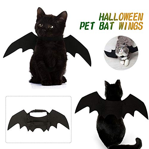 Aprettysunny Haustier-Kleid-Flügel-Katzen-Kostüm-kreatives schwarzes Halloween-Versorgungsmaterial Haustier