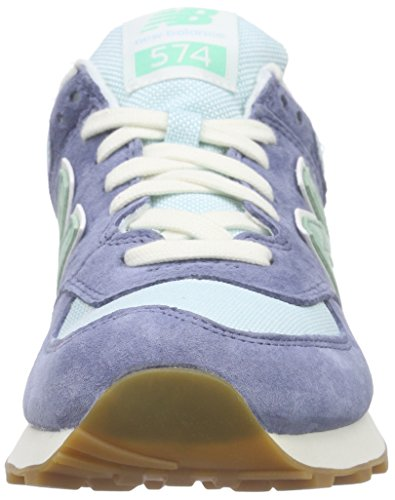 New Balance Damen Wl574v1 Sneakers Blau (Blue/Green)