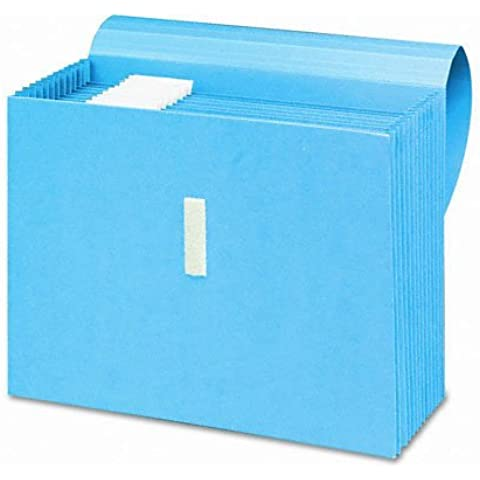 Smead Products - Smead - Antimicrobial Expanding File, 12 Pockets, Letter, Blue - Sold As 1 Each - Treated to resist the growth of bacteria, mold and mildew. - 7/8