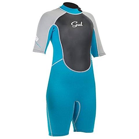 Gul Response Junior 3/2mm Shorty Wetsuit Turquoise/Silver RE3321 Junior Sizes - JUNIOR XXXS