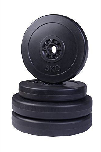 homcom-Set di Dischi da 30kg per manubri, Pesi per Allenamento Muscolare, 25mm, 2X 5kg e 2X 10kg, B1-0012