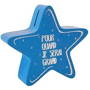 Enesco - Hucha con diseño de Estrellas, Color Azul