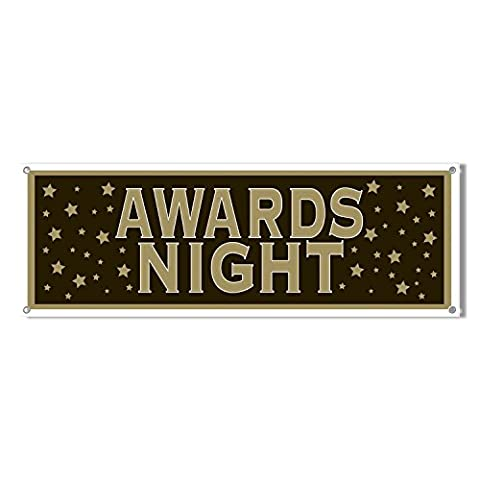 5ft Hollywood Star Awards Night Party Plastic Giant Sign Banner Decoration