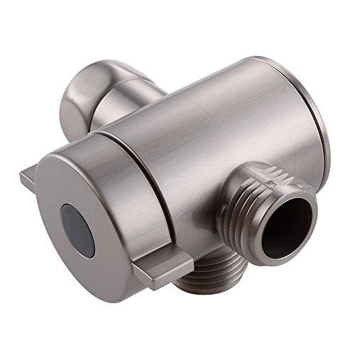 Nickel-dusche-kopf (KES Hundheld Dusche und ÜberKopf Behoben Dusche Kopf Umsteller T-Adapter Riser/Arm Montieren Sie Ersatz Teil für Dusche System 1/2-Zoll IPS, Gebürstet, PV6-2)