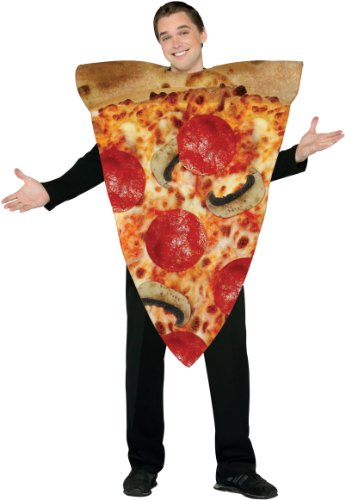 Italian Pizza Slice Adults Fancy Dress Fast Food Novelty Fun Mens Ladies Costume