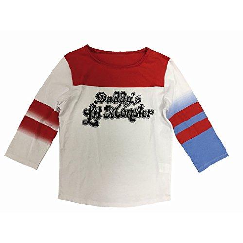 Monster Kostüm Blau Lil - Suicide Squad Damen T-Shirt - Daddy's Lil Monster (XL)