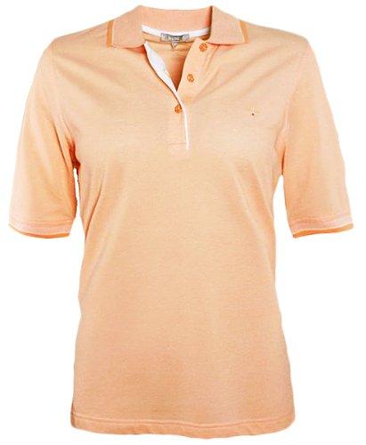 Hajo - Damen Polo Shirt kurzarm, mandarine pastell in Stay Fresh Qualität* Mandarine
