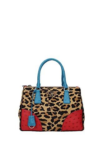 Prada Handtaschen Damen - Ponyfell (1BA863CAVSTRUMIELEROSSOVOY) - Prada Handtasche