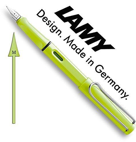 Lamy 1228189 Füllfederhalter M Modell safari neonlime, grün/silber