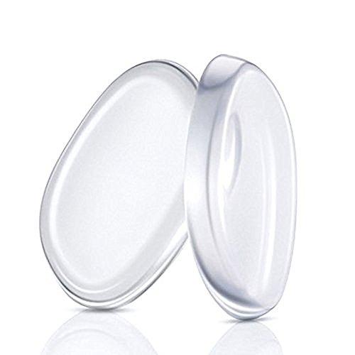2 Pack Silicone Transparent Makeup Sponge Powder Puffs Blender pour tous les préparateurs et préparations de maquillage Liquid Master Foundation